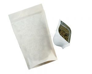 bolsa de papel blanca